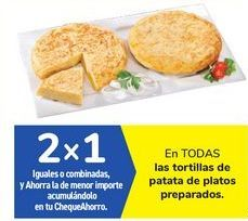 Oferta de En TODAS las tortillas de patata de platos preparados por