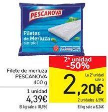 Oferta de Filete de merluza PESCANOVA por 4,39€
