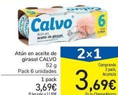Oferta de Atún en aceite de girasol CALVO por 3,69€