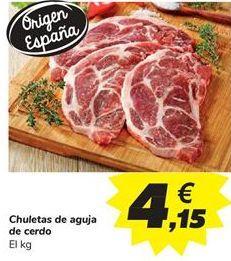 Oferta de Chuletas de aguja de cerdo por 4,15€
