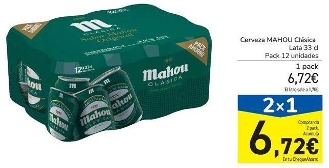 Oferta de Cerveza MAHOU Clásica por 6,72€