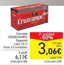 Oferta de Cerveza CRUZCAMPO Especial  por 6,11€