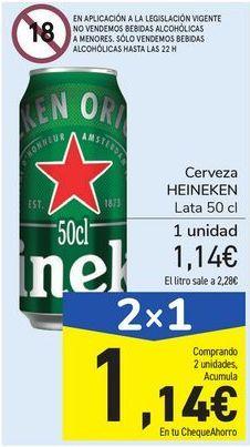Oferta de Cerveza HEINEKEN por 1,14€