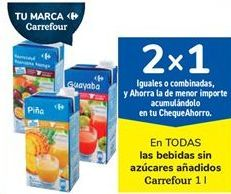 Oferta de En TODAS las bebidas sin azúcares añadidos Carrefour por