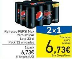 Oferta de Refresco PEPSI Max zero azúcar por 6,73€