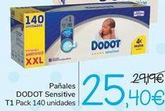 Oferta de Pañales DODOT Sensitive T1  por 25,4€