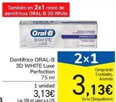 Oferta de Dentífrico ORAL-B 3D WHITE Luxe Perfection por 3,13€