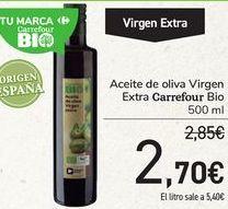 Oferta de Aceite de oliva Virgen Extra Carrefour Bio  por 2,7€