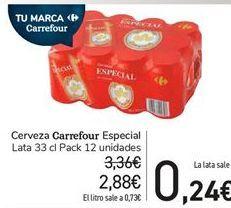 Oferta de Cerveza Carrefour Especial por 2,88€