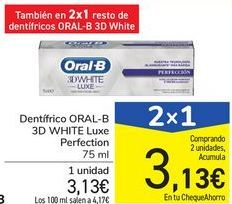 Oferta de Dentífrico ORAL-B 3D WHITE Luxe Perfection por 3,13€