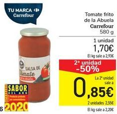 Oferta de Tomate frito de la Abuela Carrefour  por 1,7€
