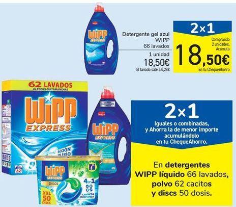 Oferta de En detergentes WIPP líquido, polvo y discs por