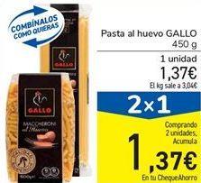 Oferta de Pasta al huevo GALLO por 1,37€