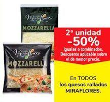 Oferta de En TODOS los quesos rallados MIRAFLORES  por