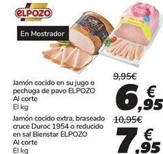 Oferta de Jamón cocido en su jugo o pechuga de pavo ELPOZO por 6,95€