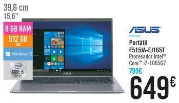 Oferta de Portátil F515JA-EJ165T ASUS  por 649€