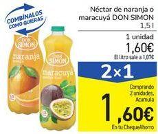 Oferta de Néctar de naranja o maracuyá DON SIMON por 1,6€