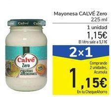 Oferta de Mayonesa CALVÉ Zero por 1,15€