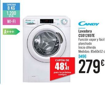 Oferta de Lavadora CS01285TE Candy  por 279€