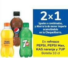 Oferta de En refresco PEPSI, PEPSI Max, KAS naranja y 7UP por