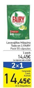Oferta de Lavavajillas Máquina Todo en 1 FAIRY por 14,45€