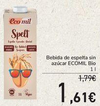 Oferta de Bebida de espelta sin azúcar ECOMIL Bio  por 1,61€