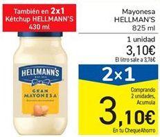 Oferta de Mayonesa HELLMAN'S  por 3,1€