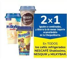 Oferta de En TODOS los cafés refrigerados NESCAFÉ Shakissimo, NESQUIK y MILKYBAR por