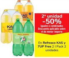 Oferta de En refrescos KAS y 7upo Free  por