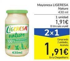 Oferta de Mayonesa LIGERESA Nature por 1,91€
