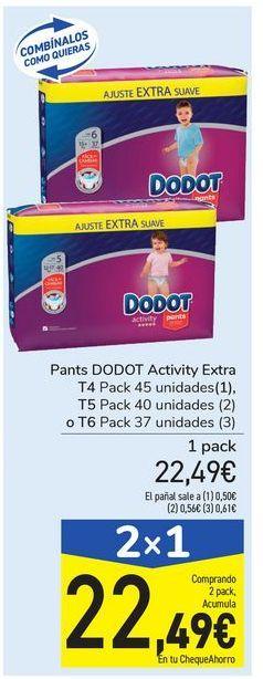 Oferta de Pants DODOT Activity Extra por 22,49€