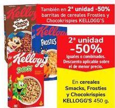 Oferta de En cereales Smacjs, Frosties y Chicikrispies KELLOGG'S  por