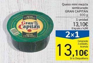 Oferta de Queso mini mezcla semicurado GRAN CAPITÁN por 13,1€