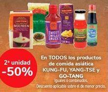 Oferta de En TODOS los productos de comida asiática KUNG-FU, YANG-TSE y GO-TANG, iguales o combinados  por