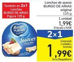 Oferta de Lonchas de queso BURGO DE ARIAS original por 1,99€
