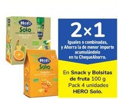 Oferta de En Snack y Bolsitas de fruta HERO Solo por