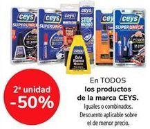 Oferta de En TODOS los productos de la marca CEYS, iguales o combinados por