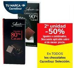 Oferta de En TODOS los chocolates Carrefour Selección  por