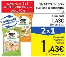 Oferta de SNATT'S Mix&Go avellana o almendra por 1,43€