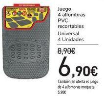 Oferta de Juego 4 alfombras PVC Recortable   por 6,9€