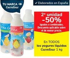 Oferta de En TODOS los yogures líquidos Carrefour  por