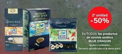 Oferta de En TODOS los productos de comida asiática BLUE DRAGON por