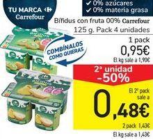 Oferta de Bífidus con fruta 00% Carrefour  por 0,95€