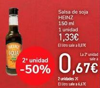 Oferta de Salsa de soja HEINZ por 1,33€