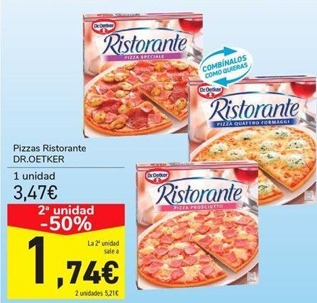 Oferta de Pizzas Ristorante DR.OETKER  por 3,47€