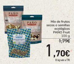 Oferta de Mix de frutos secos o semillas ecológicos PAÑO Fruit  por 1,7€