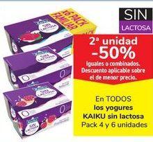 Oferta de En TODOS los yogures KAIKU Sin lactosa  por