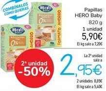 Oferta de Papillas HERO Baby  por 5,9€