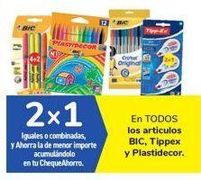 Oferta de En TODOS los artículos BIC, Tippex y Plastidecor por