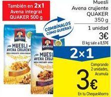 Oferta de Muesli Avena crujiente QUAKER por 3€
